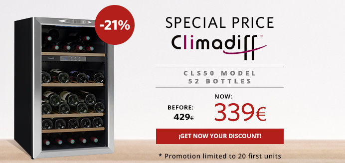 promotion wine cooler cls 50 climadiff