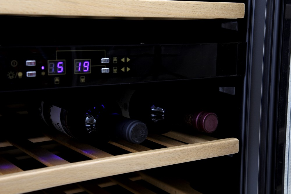 Vinoteca encastrable 45 botellas cvde46 doble zona - Vinoteca 2 temperaturas ...