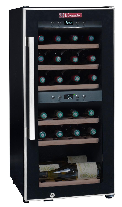 Vinoteca 24 botellas ecs25 2z doble zona temperatura - Vinotecas de madera ...