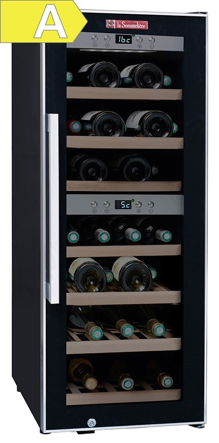 Vinoteca la sommeli re 38 botellas doble zona de - Vinoteca 2 temperaturas ...