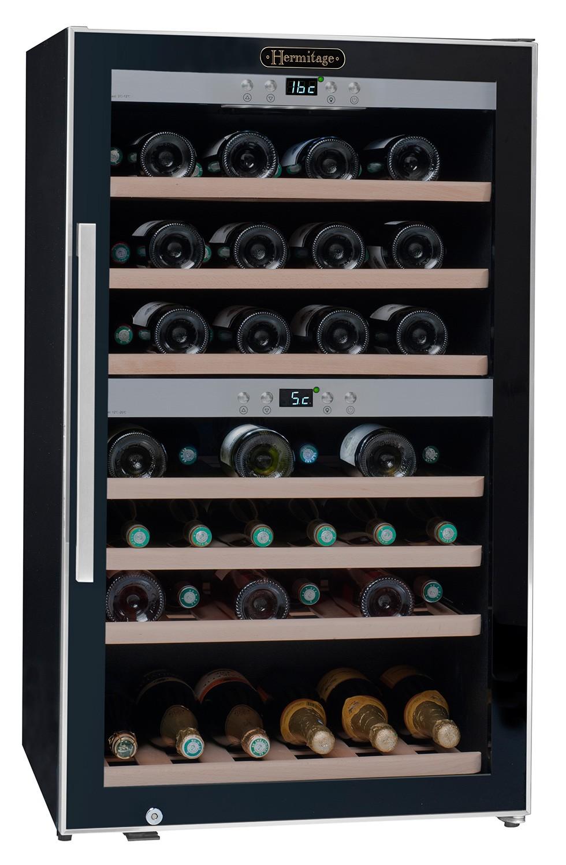 Vinoteca 66 botellas ecs70 2z doble zona temperatura la - Vinoteca 2 temperaturas ...