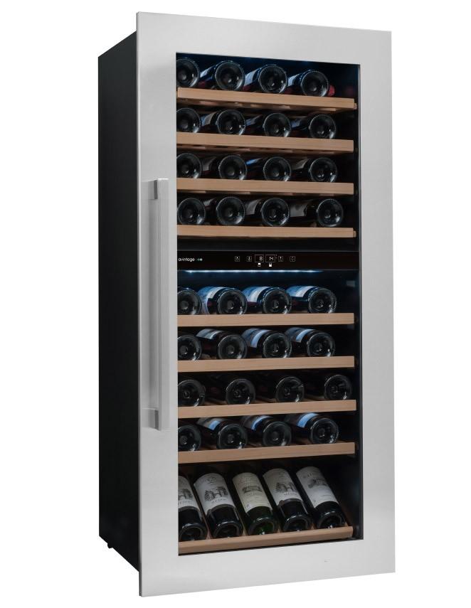 Vinoteca de doble temperatura para 79 botellas avintage - Vinoteca 2 temperaturas ...
