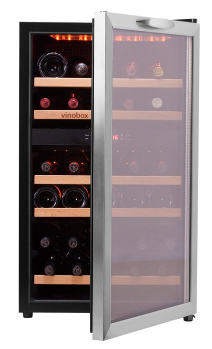 Vinoteca 40 botellas 40gc 2t doble zona temperatura - Vinoteca 2 temperaturas ...