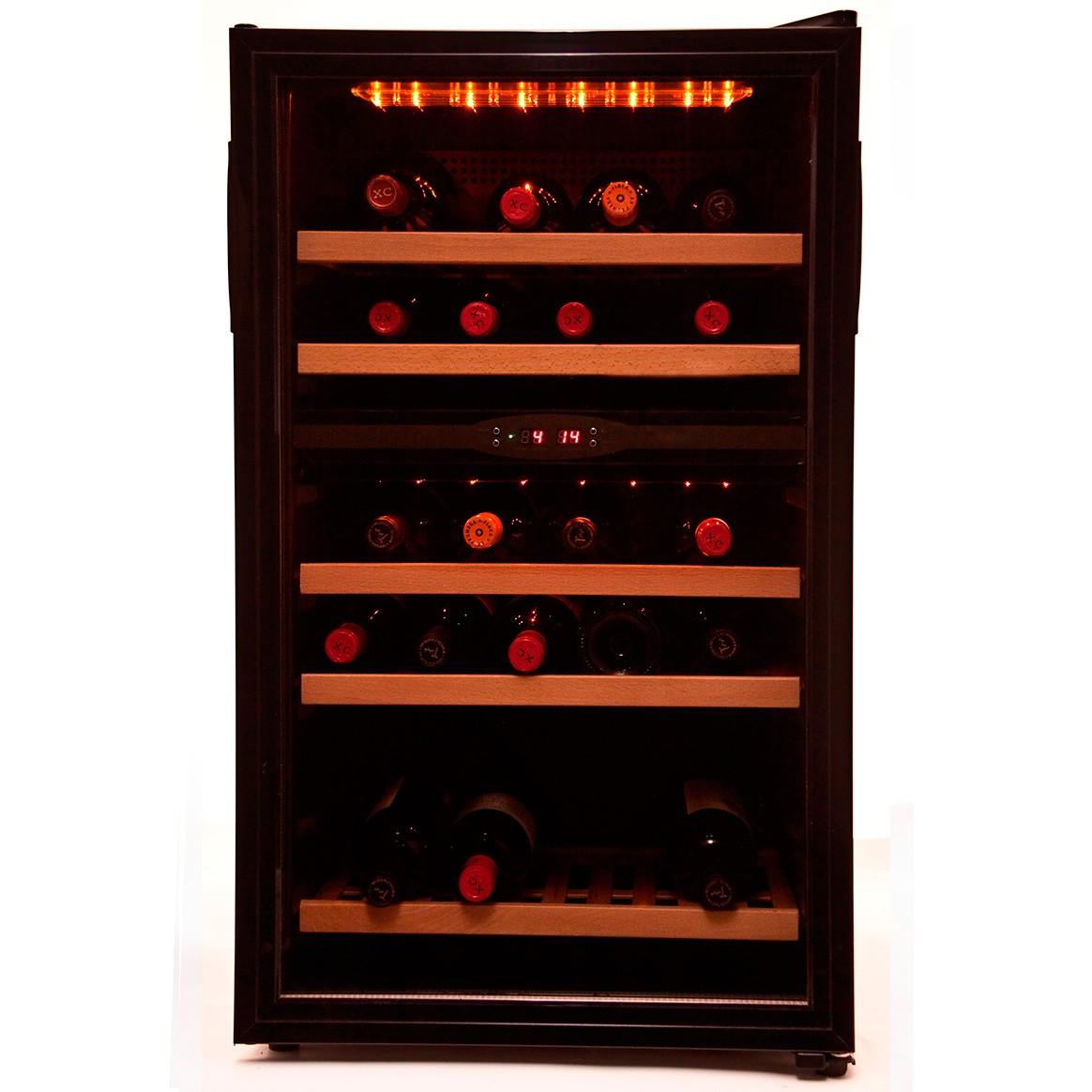 Vinoteca 40 botellas 40pc 2t doble zona temperatura - Vinoteca 2 temperaturas ...