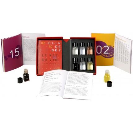 Libro 6 aromas Guiño de Nariz Le Nez du Vin caja y libro