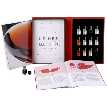 Libro 12 aromas vinos tintos Le Nez du Vin caja y libro