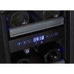 Vinoteca 23 botellas Dometic S17G doble temperatura detalle display temperatura