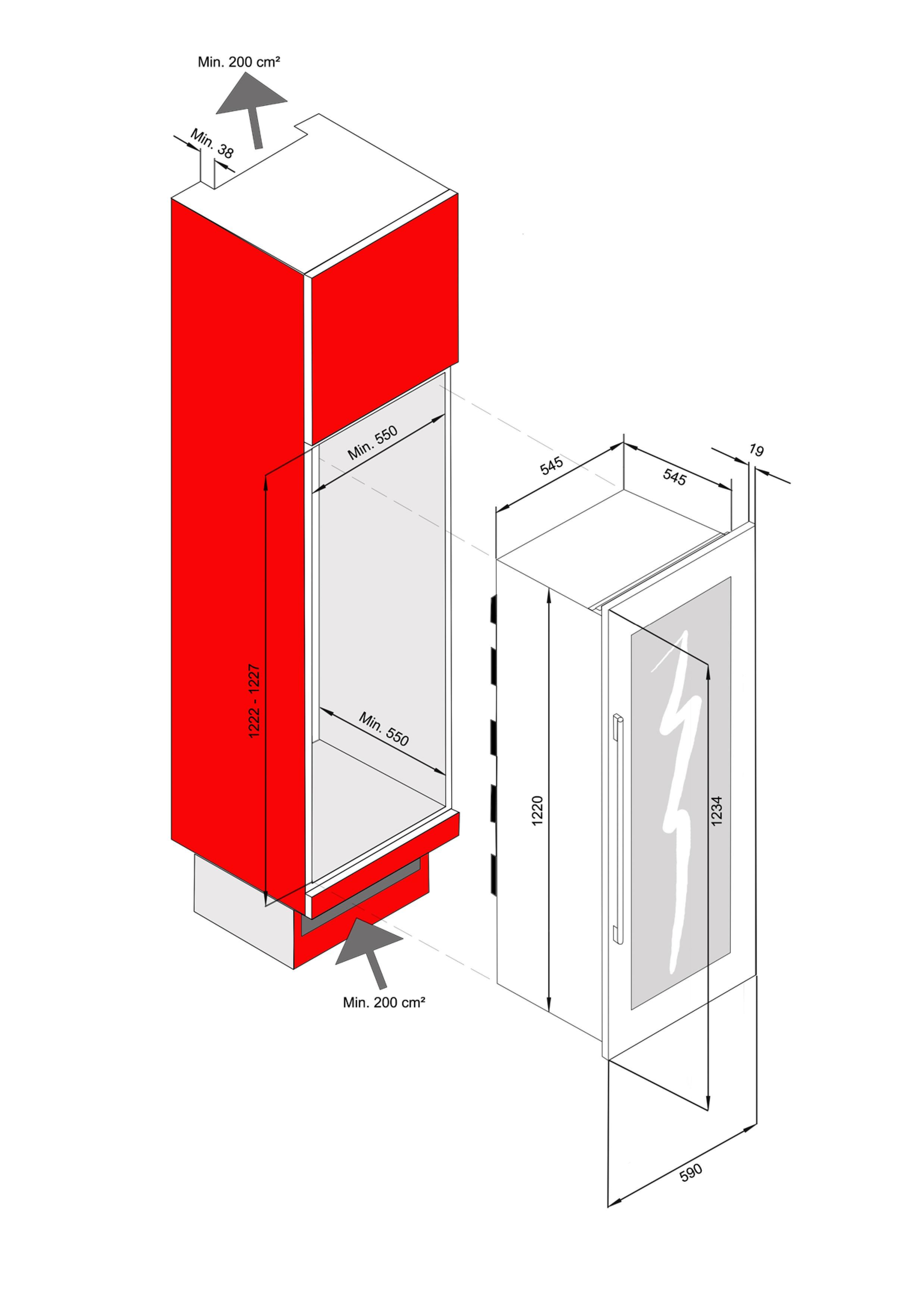 wine cooler 81 bottles avintage av93x3zi 1 wine cooler. Black Bedroom Furniture Sets. Home Design Ideas