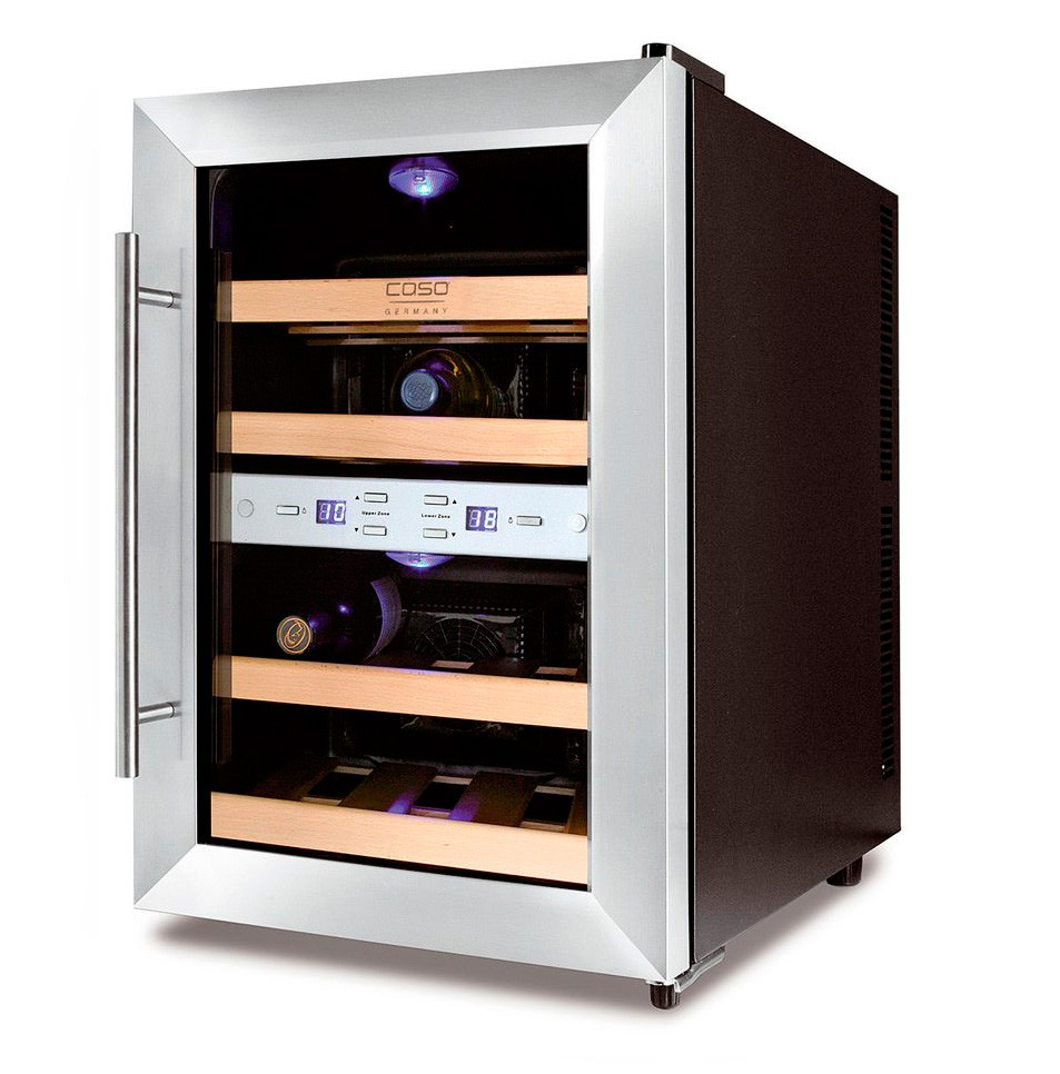 Wine cooler 12 bottles wineduett 12 dual temperature for Modern homes 8 bottle wine cooler