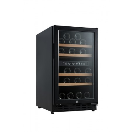 Vinoteca 33 botellas Vinobox 40GC 2T Negra Encastrable cerrada