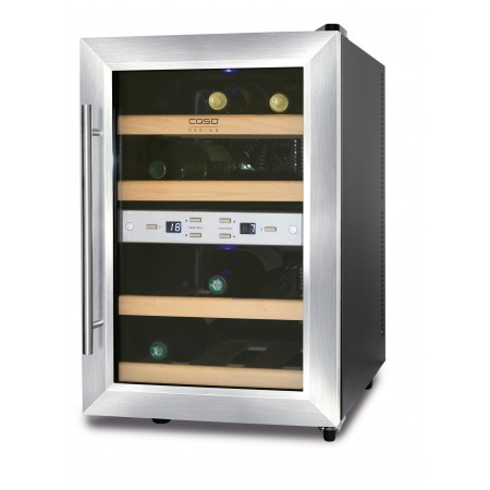 Vinoteca 12 Botellas WineDuett 12 Doble Temperatura lado