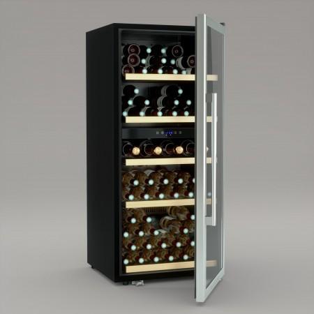 Vinoteca 91 botellas Cavist CAVIST91 abierta llena