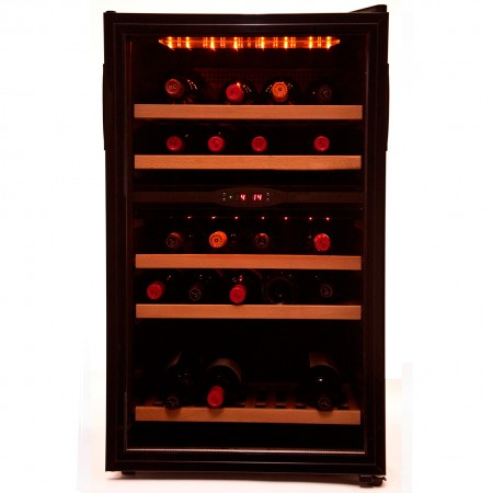 Vinoteca 40 botellas 40PC 2T doble zona temperatura
