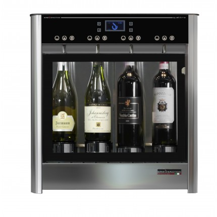 Dispensador de vino por copas para 4 botellas Wineemotion Due 2  frontal
