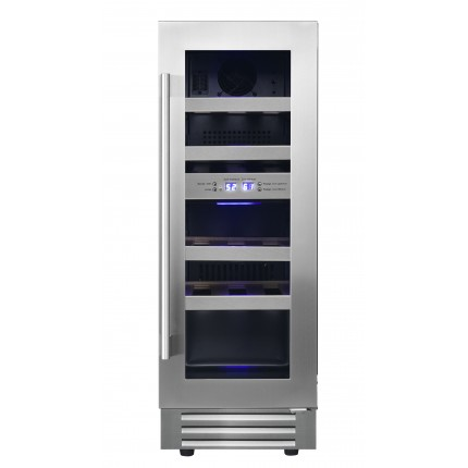 Vinoteca doble zona encastrable 17 botellas LB178 inox
