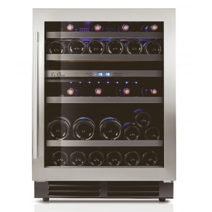 Vinoteca doble zona encastrable 44 botellas LB445 inox