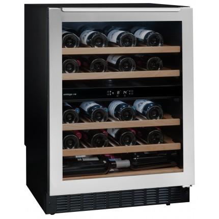 Vinoteca doble zona de temperatura encastrable bajo encimera para 50 botellas Avintage AVU54TXDZA