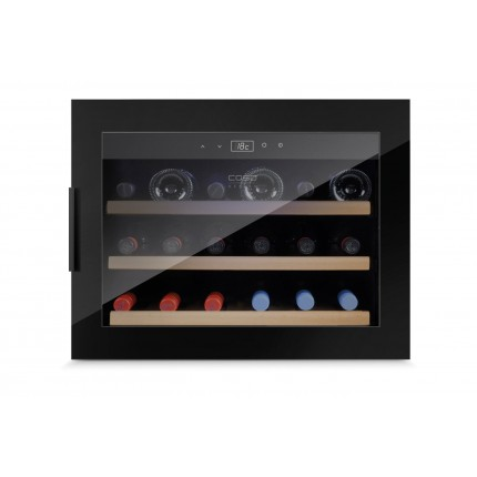Vinoteca 18 botellas WineSafe 18 EB Black encastrable en columna llena