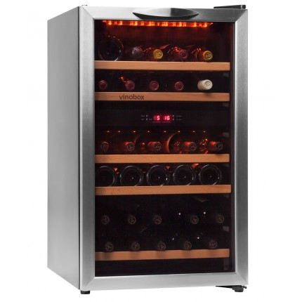 Vinoteca 40 botellas 40GC 2T doble zona temperatura
