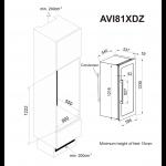Diagrama de encastre AVI81XDZ