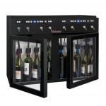 Dispensador de vino 8 botellas La Sommelière DVV8 abierto