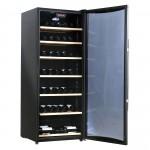 Vinoteca para 100 botellas Caviss C1100GBE4 llena