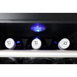 Vinoteca 12 botellas WineCase Red 12 Caso Germany detalle luz inteior