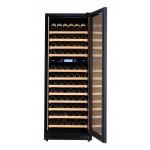vinoteca-140-botellas-pevino-p120d-hhb negro mutitemperatura abierta