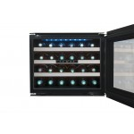 Vinoteca 24 botellas Avintage AVI24 Premium puerta abierta llena