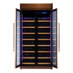 vinoteca-320-botellas-pevino-h320f-12-g-oro-rosa-abierta