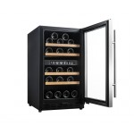 Vinoteca 33 botellas Vinobox 40GC 2T Negra Encastrable abierta