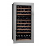 Vinoteca encastrable 70 botellas mQuvée WineKeeper 70D Stainless lateral