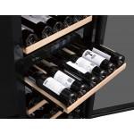 Vinoteca 97 botellas PRO91BA negro bandedjas con vino