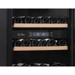 Vinoteca 97 botellas PRO91BA negro detalle