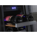 Vinoteca 23 botellas Dometic S17G doble temperatura detalle bandeja sin etiqueta