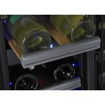 Vinoteca 23 botellas Dometic S17G doble temperatura detalle botella