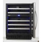 Vinoteca 62 botellas Dometic S46G encastrable doble temperatura frontal abierta display temperatura