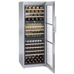 Vinoteca Liebherr WTES5872 3 Zonas Inox 178 Botellas abierta