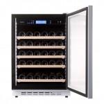 Vinoteca Pevino 46 botellas P46S HHWN blanco puerta abierta
