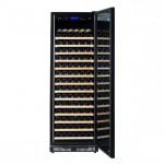 Vinoteca Pevino EVO 220 botellas PE168D-HHSGB Puerta solida negra abierta