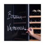 Vinoteca Pevino EVO 220 botellas PE168D-HHSGB Puerta solida negra puerta 3