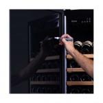 Vinoteca Pevino EVO 220 botellas PE168D-HHSGB Puerta solida negra puerta 2