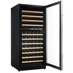 Vinoteca Vinobox 110 botellas 110GC 2T Negro doble zona temperatura puerta abierta