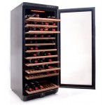 Vinoteca Vinobox 110 botellas 110GC 1T Negro lateral abierta