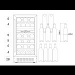 Vinoteca 28 botellas mQvée WINECAVE 700 40DI medidas 2