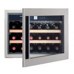 Vinoteca Liebherr WKEes553 GrandCru Inox 18 Botellas encastrable en columna medio abierta