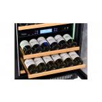 vinoteca pevino 38 botellas p46d-hhbn doble zona temperatura encastrable detalle