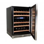 vinoteca pevino 38 botellas p46d-hhss doble zona temperatura acero abierta