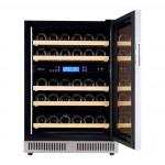 vinoteca pevino 38 botellas p46d-hhss doble zona temperatura acero abierta frontal