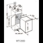Vinoteca Liebherr WTI2050 Vinidor 2 Zonas 64 Botellas encastrable en columna esquema